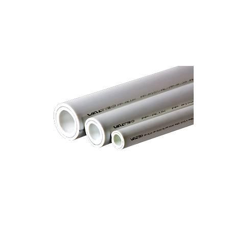 ТРУБА PP- ALUX, арм. алюминием, PN 25, 20 MM (белый, по 2м) VALTEC