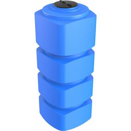Бак пластиковый прямоугольный вертикальный 1000 л. узкий синий