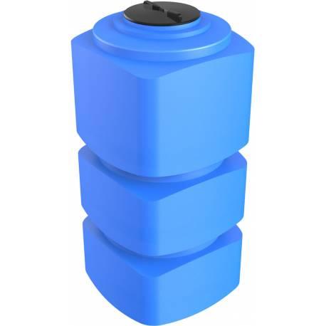 Бак пластиковый прямоугольный вертикальный 750 л. узкий синий