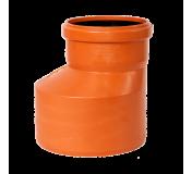 Переход эксцентрический канализационный наружный 250х200 мм OSTENDORF рыжий