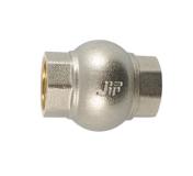 """Обратный клапан с металлическим диском В 1"""" JIF никель"""